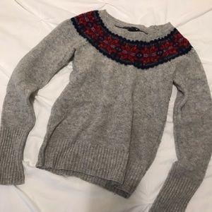 American Eagle Fair Isle Wool Sweater